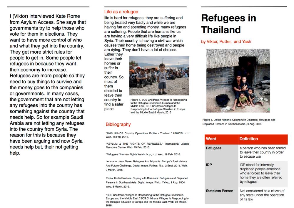Yash Hum brochures refugees copy
