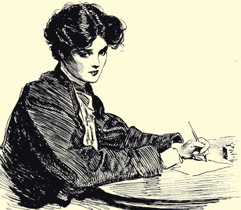 Gibson_Girl_writing