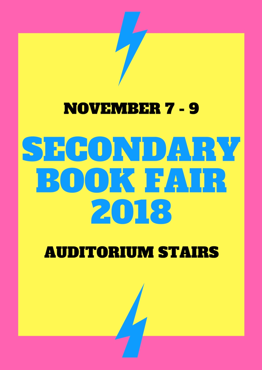 SECONDARY BOOK FAIR 2018